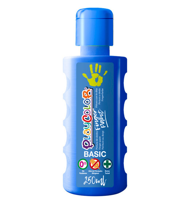 Pintura dedos playcolor finger paint basic 250 ml azul