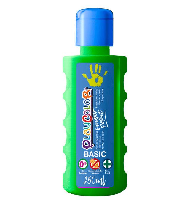 Pintura dedos playcolor finger paint basic 250 ml verde