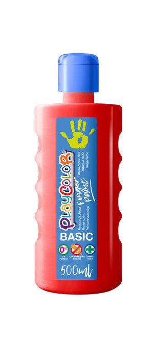 Pintura dedos playcolor finger paint basic 500 ml rojo