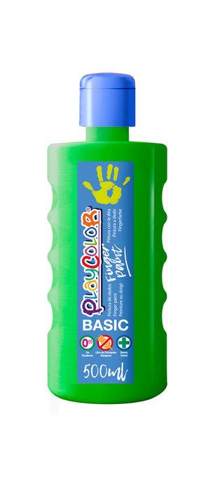 Pintura dedos playcolor finger paint basic 500 ml verde