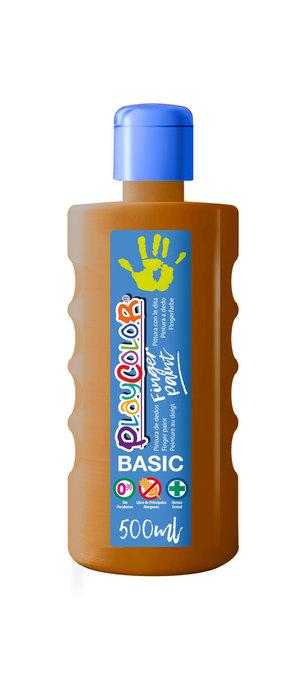 Pintura dedos playcolor finger paint basic 500 ml marron