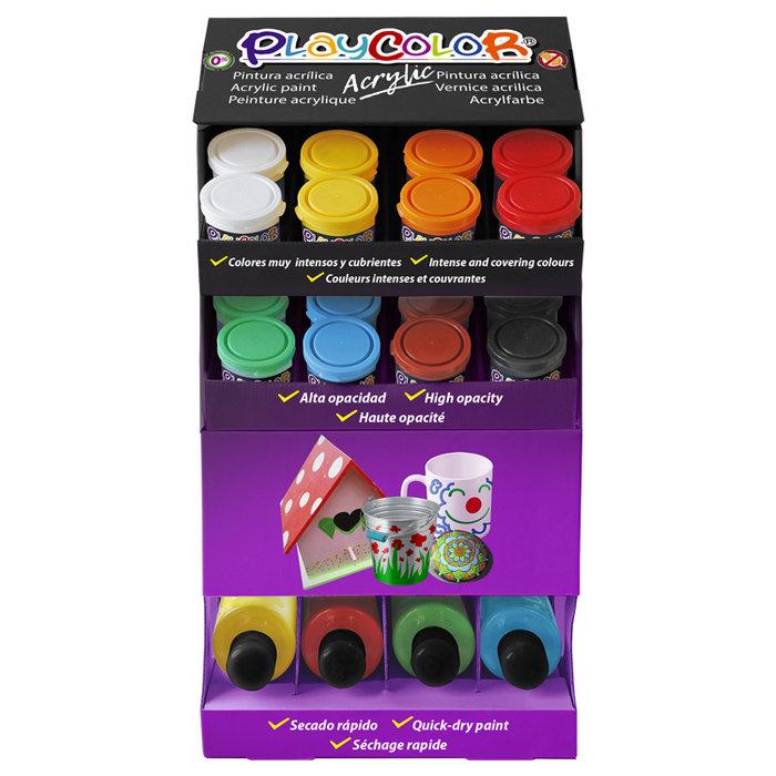 Pintura playcolor acrylic basic expositor 40 x 250 ml