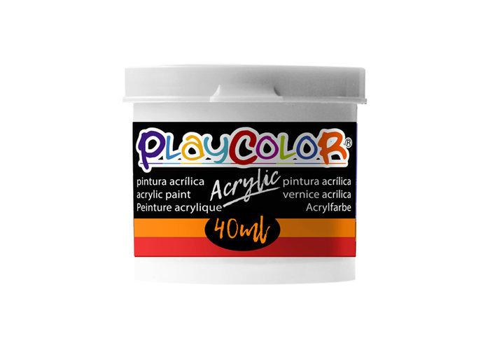 Pintura playcolor acrylic basic 40 ml blanco 6 uds