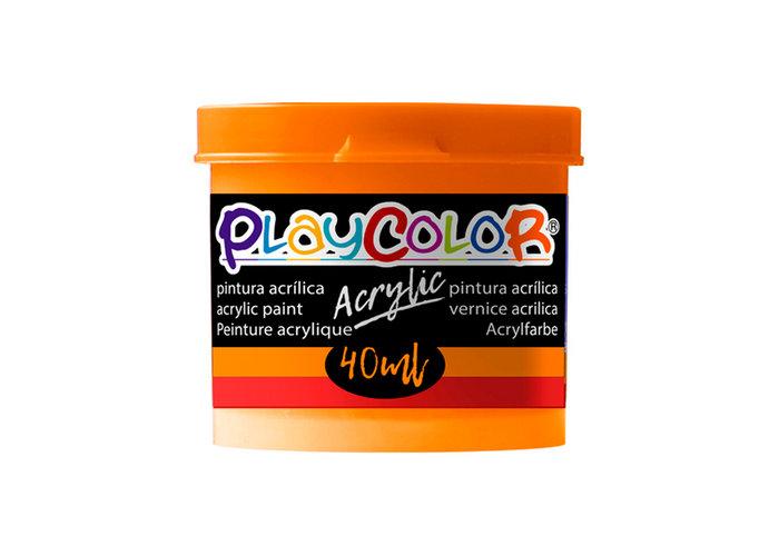 Pintura playcolor acrylic basic 40 ml naranja 6 uds