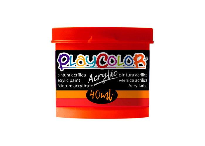 Pintura playcolor acrylic basic 40 ml rojo 6 uds