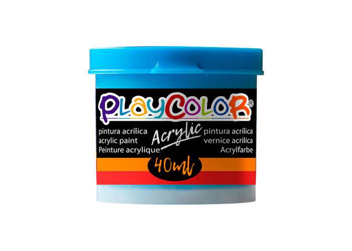 Pintura playcolor acrylic basic 40 ml azul claro 6 uds