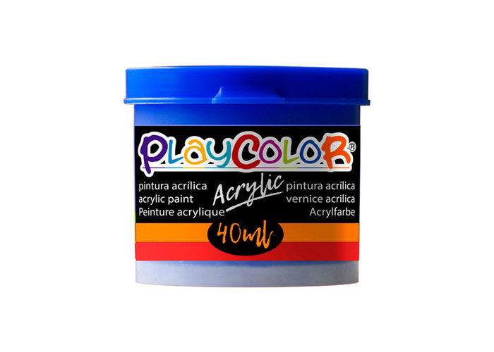 Pintura playcolor acrylic basic 40 ml azul oscuro 6 uds