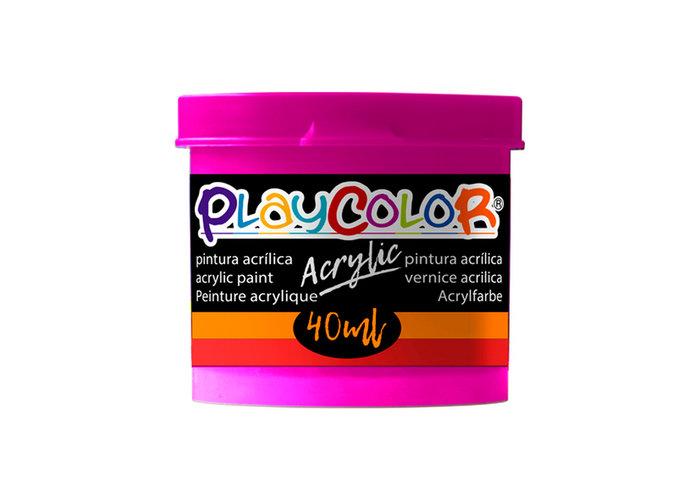 Pintura playcolor acrylic basic 40 ml violeta 6 uds