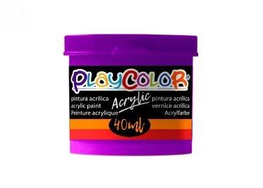 Pintura playcolor acrylic basic 40 ml magenta 6 uds