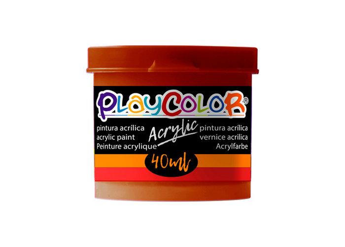 Pintura playcolor acrylic basic 40 ml marron 6 uds