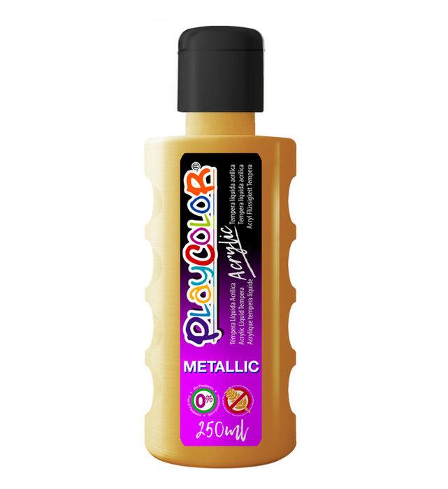Pintura playcolor acrylic metallic 250 ml oro