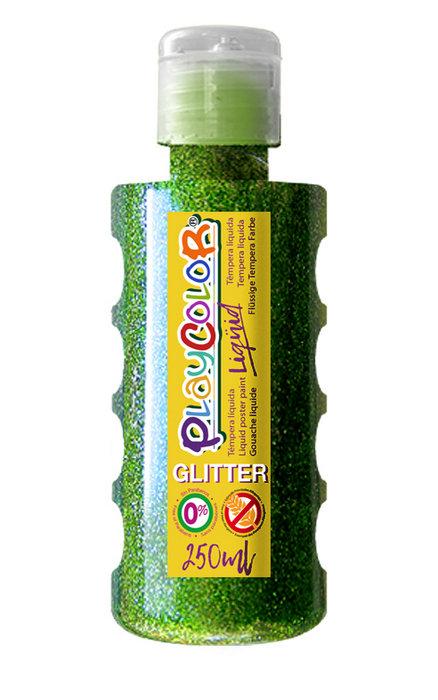 Tempera playcolor liquid glitter 250 ml verde