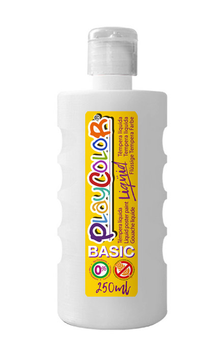 Tempera playcolor liquid basic 250 ml blanco