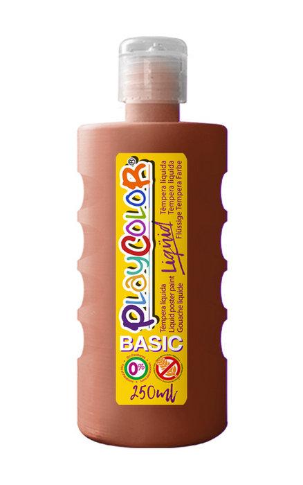 Tempera playcolor liquid basic 250 ml marron