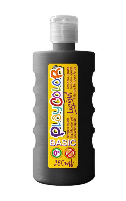 Tempera playcolor liquid basic 250 ml negro