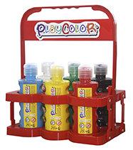 Tempera playcolor liquid basic 250 ml basket 6