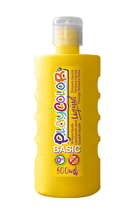 Tempera playcolor liquid basic 500 ml amarillo