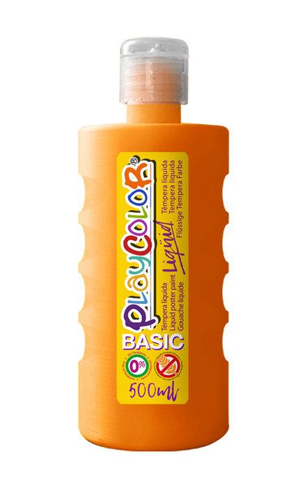 Tempera playcolor liquid basic 500 ml naranja
