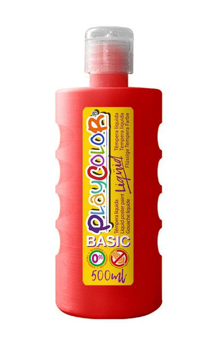 Tempera playcolor liquid basic 500 ml rojo