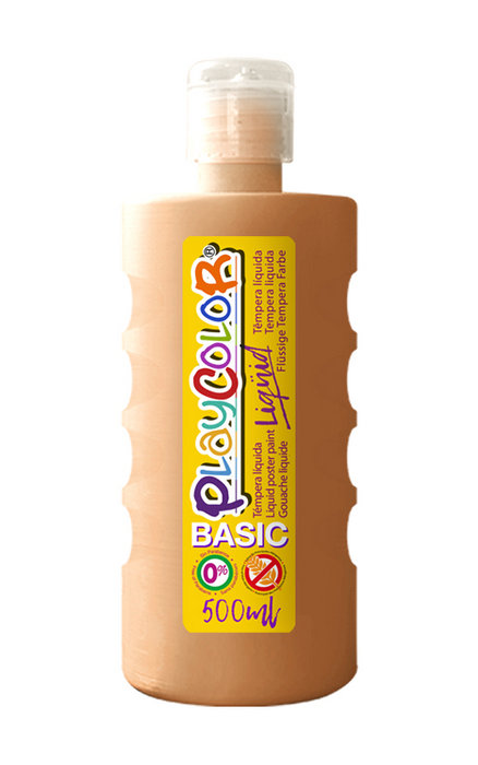 Tempera playcolor liquid basic 500 ml carne