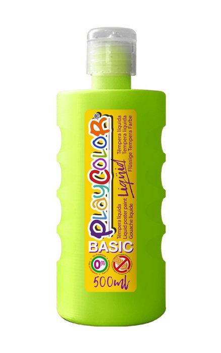 Tempera playcolor liquid basic 500 ml verde claro