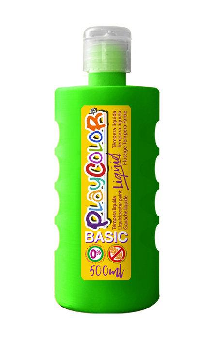 Tempera playcolor liquid basic 500 ml verde oscuro