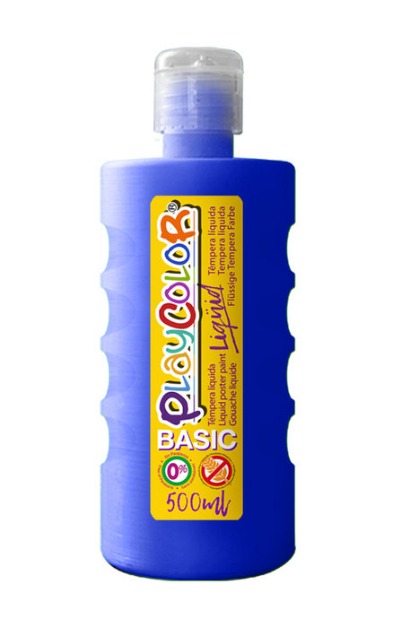 Tempera playcolor liquid basic 500 ml azul oscuro