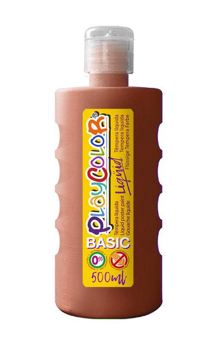Tempera playcolor liquid basic 500 ml marron