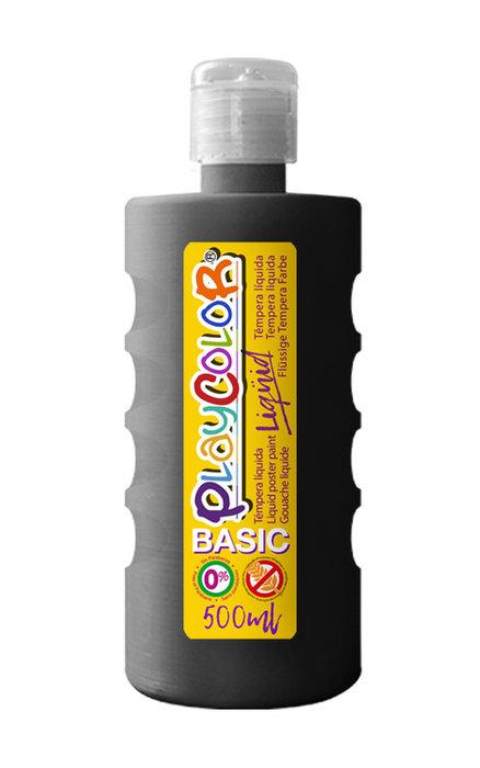 Tempera playcolor liquid basic 500 ml negro