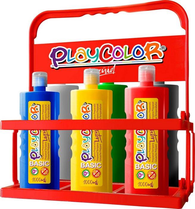 Tempera playcolor liquid basic 1000 basket 6