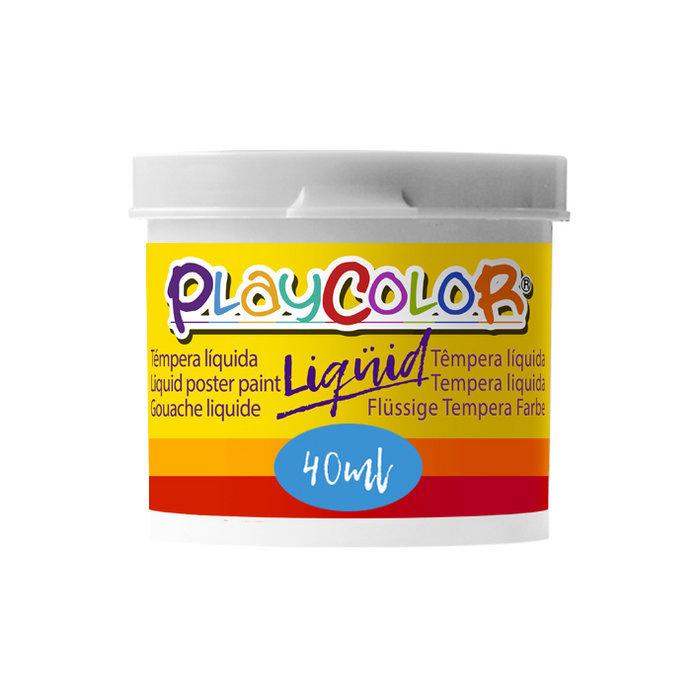 Tempera playcolor liquid 40 ml monocolor blanco 6
