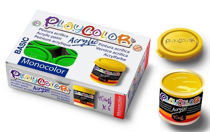 Tempera playcolor liquid 40 ml monocolor amarillo 6