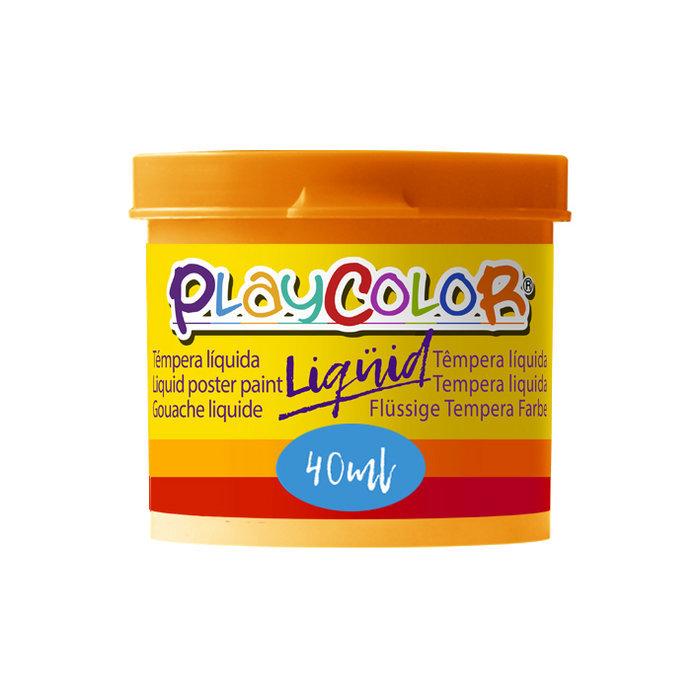 Tempera playcolor liquid 40 ml monocolor naranja 6