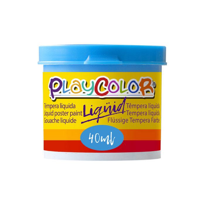 Tempera playcolor liquid 40 ml monocolor azul claro 6
