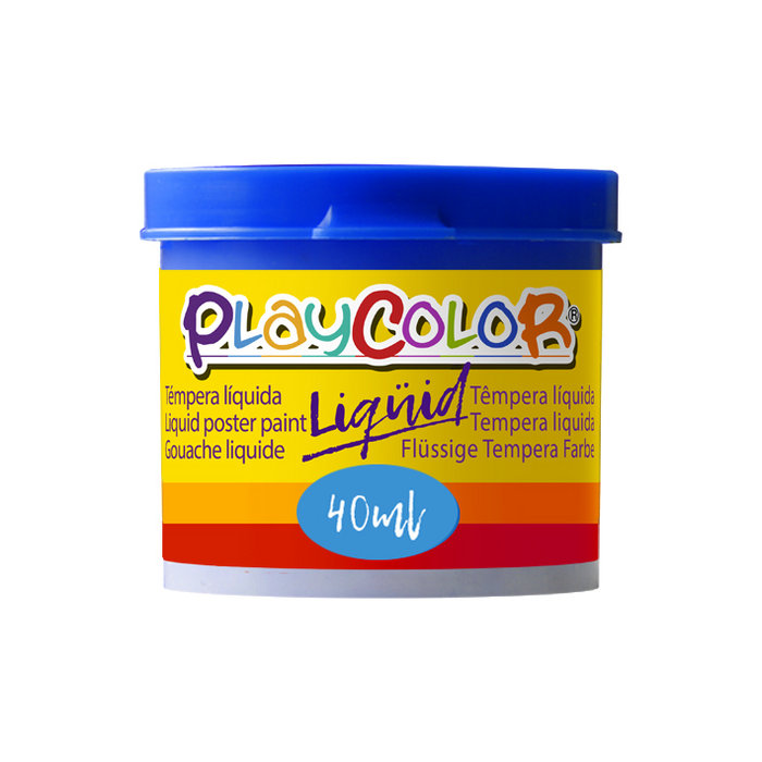 Tempera playcolor liquid 40 ml monocolor azul oscuro 6