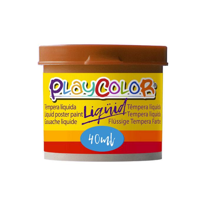 Tempera playcolor liquid 40 ml monocolor marron 6