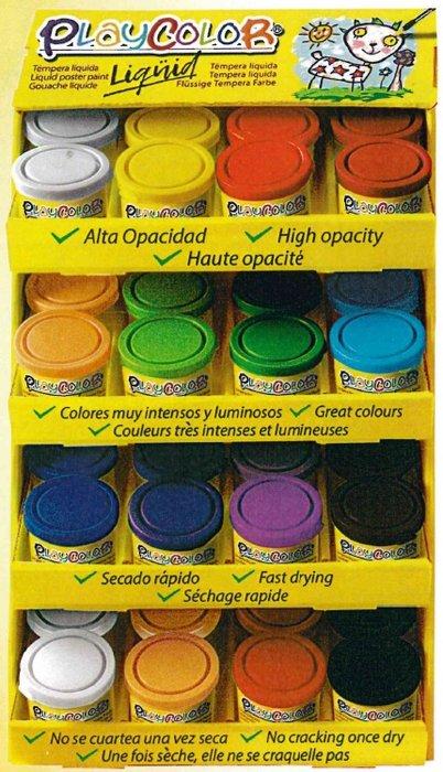 Expositor 48 temperas playcolor liquid 40 ml