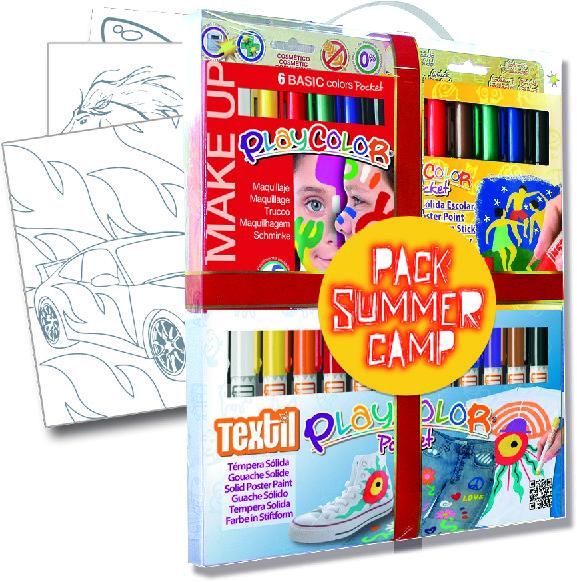 Tempera solida maletin summer camp playcolor pocket