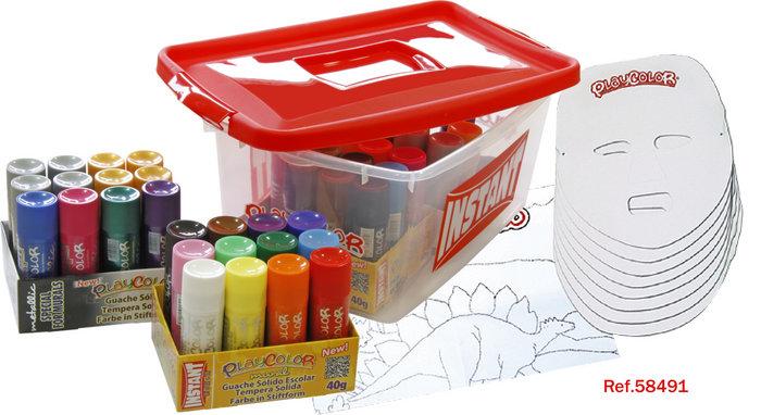 Tempera solida playcolor mural basic+mural metallic tupper