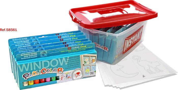 Pintura para cristales playcolor window pack promo tupper