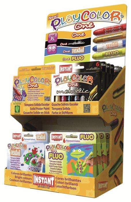 Tempera solida playcolor one expositor combinado 24 x 6 uds