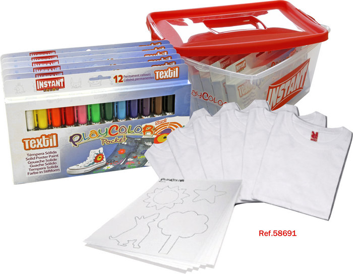 Pintura para ropa playcolor textil pack promo tupper