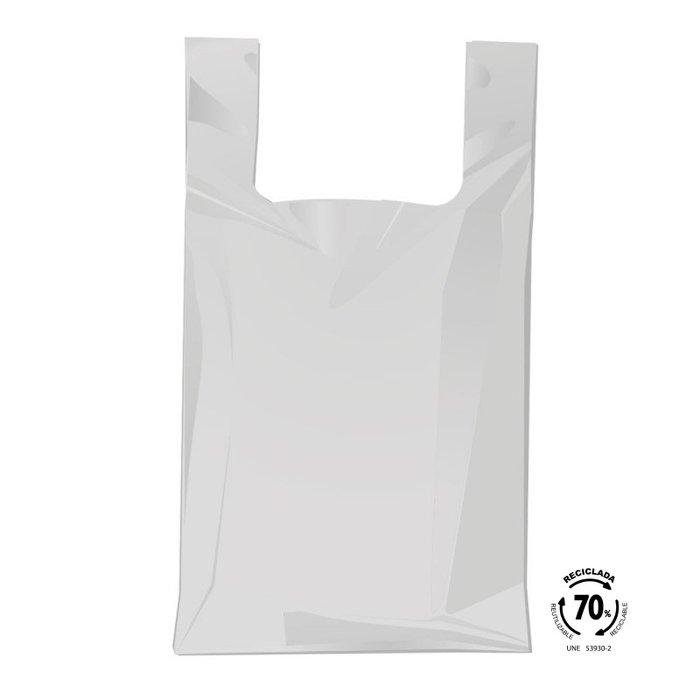 Bolsa camiseta 30x40 70% reciclado 100 unidades