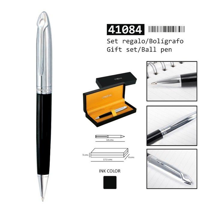 Boligrafo perona negro/plateado 41084