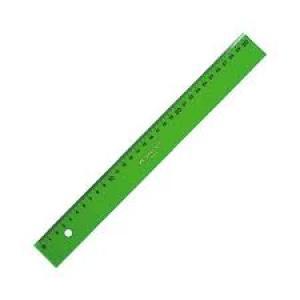 Regla faber 40cm verde