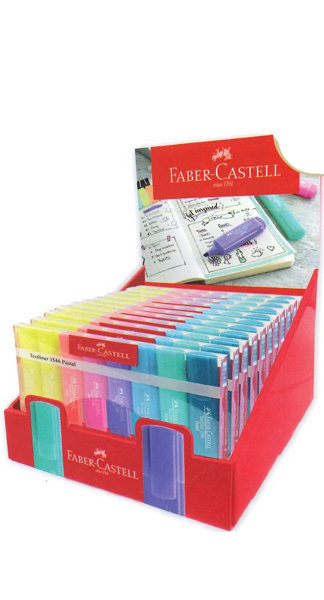 Marcador textliner 1546 pastel expositor 10+1 gratis