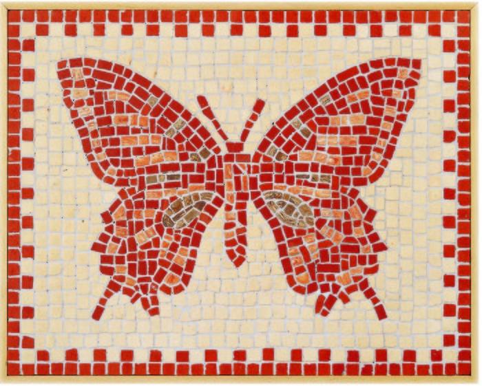 Kit con piezas mosaico mariposa-27x34
