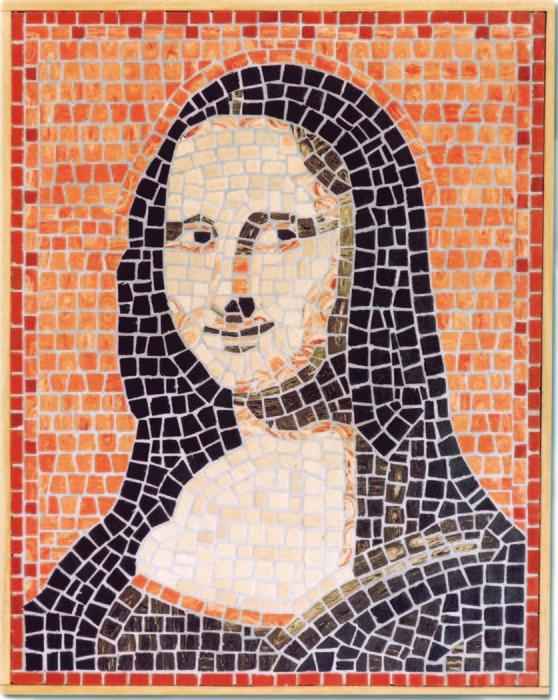 Kit con piezas mosaico la gioconda-27x34