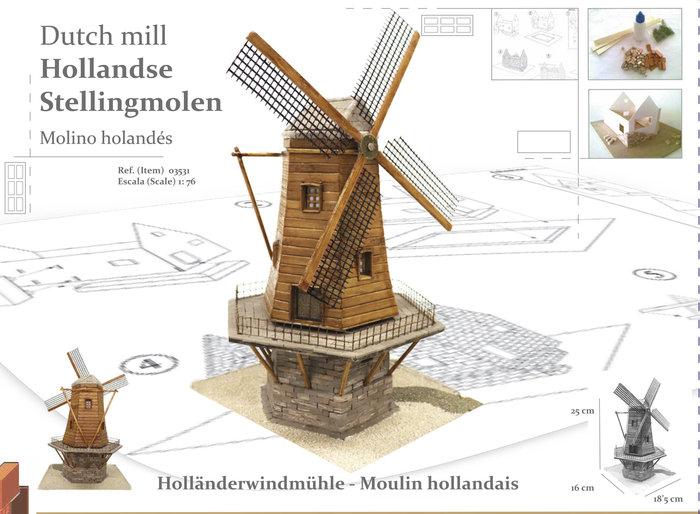 Maqueta molino holandes