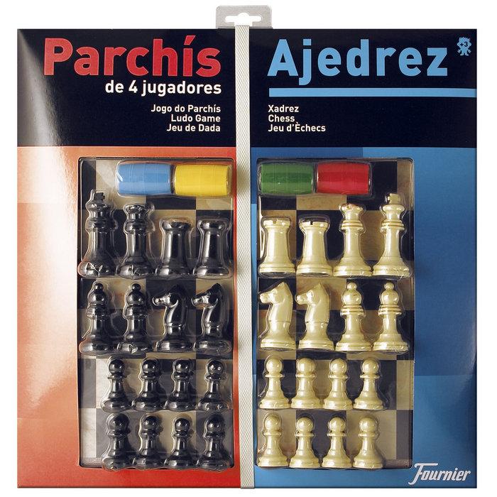 Tablero grande parchis 4/ajedrez c/accesor
